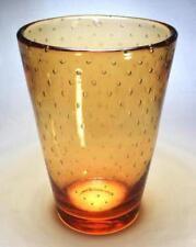 Vase Orange Vintage Original Art Glass