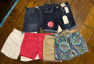 Girls Shorts Size 10 Lot Of 6