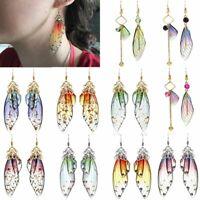 Acrylic Butterfly Wings Long Drop Dangle Hook Earrings Women Stud Jewelry Gift