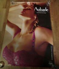 AUBADE Advertising Poster 93cm x 63cm Sexy Lingerie Nude, Folie Intense Colour