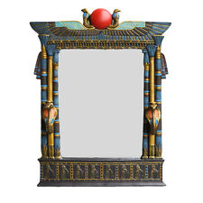 """Ancient Egyptian Double Cobra Head 25"""" Large Wall Mirror Isis Wings"""