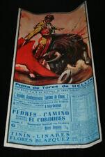 CARTEL CORRIDA TOROS PEDRES CAMINO Y EL CORDOBES, TININ LINARES, HELLIN 1965, 9º