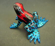 Curio Display Glass FROG Painted Shiny Glass Ornament Glass Animal Figure Gift