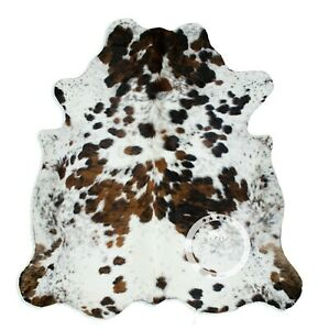 Cowhide Rug - Exotic Tricolor High Quality Hair on Hide Size: Large (L) K163