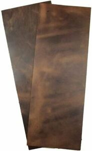 """ELW Rustic Leather Rectangles (5"""" x14"""") 2 Piece Set for Crafts/Tooling/Hobby..."""