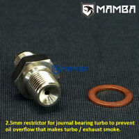 Smartturbo Turbo Oil Feed Adapter M10x1.0mm to 4AN is compatible with MHI TD025 TD025L K03 GT15 17 20 22