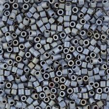 Miyuki Delica Beads Size 8/0 (3mm) Matte Metallic Grey 6.8g (J101/11)