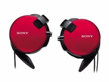 SONY Headphone MDR-Q68LW: code retractable flat-screen behind-the-ear style red