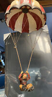 Rare 1970's Hand Painted Vintage Parachute Hanging Clown by Allan Agohob