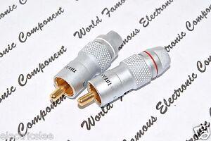 2pcs (1Pair) - TIFFANY RCA  Male Plug / Connector NOS - CX-5C