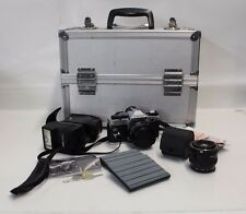 VTG 35mm Canon AE-1 Camera, 70-210mm Zoom Lens & Accessories in Promaster Case