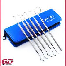 6er Dental Set Zahnsteinentferner Zahnsonde Zahnpflege Teeth Whitening Werkzeuge