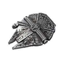 "STAR WARS Pewter Magnetic Solid Metal MILLENNIUM FALCON Money Clip  2.5"" x 2"""