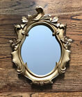 Beautiful Victorian Gold Ornate Framed Oval Wall Hanging OR Standing Mirror