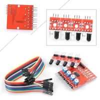 New 4 Channel Infrared Detector Tracking Sensor Module Set for Arduino Smart Car