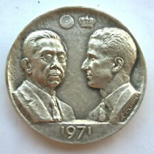 Spain 1971 Japan Royal Visit 5oz Silver Medal,UNC