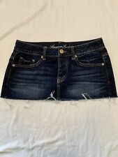 American Eagle Denim Mini Skirt Button Up Womens Size 6