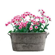 Galvanized Zinc Tin Metal Bucket Herb Flower Pots Planter in Different Sizes