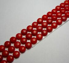 1x Koralle - Bamboo Rot Rund cabochon  5,0mm  (1514)