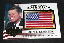 Decision 2016 JOHN Fitzgerald KENNEDY Gold Foil Mini Flag Patch Insert #GBA31