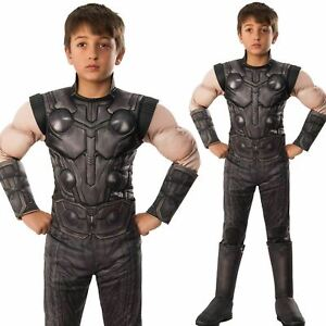 Official Boys Deluxe Thor Avengers Infinity War Costume Fancy Dress Outfit
