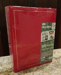 "Pioneer Magnetic Page Photo Album 10""X11.5""-100 Pages LM-100 Red - Brand New!"