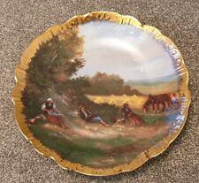 Antique Limoges France Porcelaine Plate Gold Edge