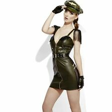 Sexy Fever Miss Behave Military Army Navy Womens Ladies Fancy Dress Costume