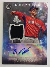 QTY AVL Rafael Devers Auto 2016 Bowman Inception Boston Red Sox Autograph Jersey