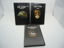Stanley Kubrick's Full Metal Jacket Eyes Wide Shut Clockwork Dvd Vg Region1