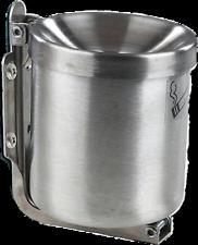 Wandaschenbecher Edelstahl Sicherheitsaschenbecher  1,0 Liter 110mm x 120mm