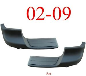 02 09 Chevy Trailblazer Rear Outer Step Pad Set In Bumper GM1191109 GM1191110