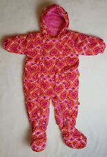 ME TOO - Danish Design Pink Hearts Hooded Snowsuit Infant Girl's Size 6-9 Months