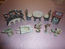 10 pcs Fairy Garden miniature figures decorations, bridge well table etc. resin