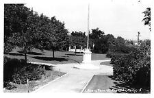 El Segundo California~Flag Pole on Stand @ Library Park~Bandstand RPPC 1940s
