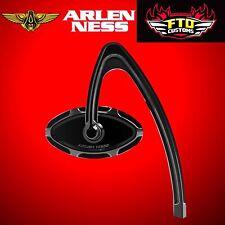 Arlen Ness Mirror Forged Billet Beveled Hanger Stem Black Left Side 13-140