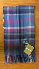 Barbour Vintage Winter Plaid Lambswool/Cashmere scarf Navy LSC0109NY11