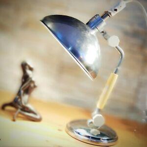 Industrielle Rosenthal Design Tischlampe Table Lamp Bauhaus Vintage 50er 60er