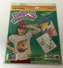 Tulip Shaded Iron-On Transfers Tropical Colletion Sailboats #ST 30 Vintage 1990