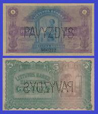 Lithuania 5 litas 1922 specimen UNC - Reproduction