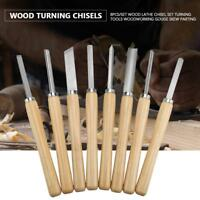8pcs Wood Carving Lathe Chisel Set Turning Tools Woodworking Gouge Skew Parting
