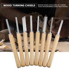 8pcs Wood Carving Lathe Chisel Set Turning Tools Woodworking Gouge Skew Parting