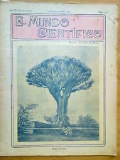 ANTIGUA REVISTA AÑO 1904 MUNDO CIENTIFICO,SORPRENDENTES NOTICIAS,PUBLICIDAD.197