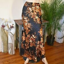 NWT Mimi Chica Rose Floral Crinkled Long Maxi Pencil Mermaid Flare Skirt XS Tall