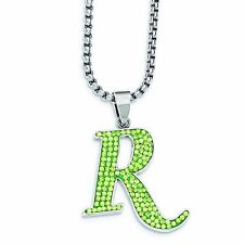 REMINGTON Stainless Steel Green Crystal R Pendant Necklace Gun Accessories Jewel