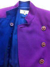 VALENTINO MISS V Women Jacket Blazer Coat 40/6 S PURPLE Double Breast