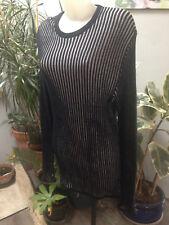 ARMAND THIERRY robe longue manche longue coton noir gris Taille 44