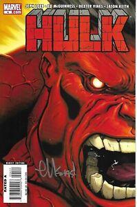 Red Hulk #4 Signed by Artist Ed McGuinness Marvel Comic Aug 2008