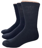 Physician Approved Loose Fit Top Diabetic Crew Socks for Men, Women.
