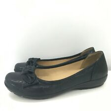 New Hotter Shoes Size UK7.5 EU40.5 Navy Bow Women's Casual Comfort Padded 301021